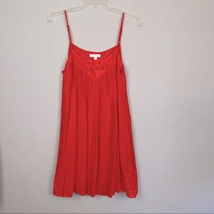 NWT socialite red dress mini lace detail large